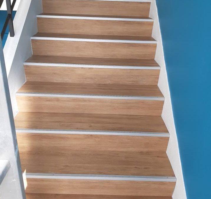 rénovation escalier pose de dalle